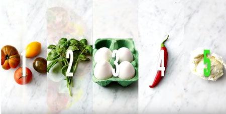 Омлет с салатом. Ингредиенты