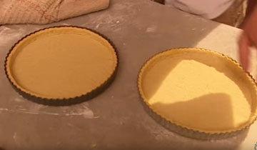 Выложить тесто на дно формы