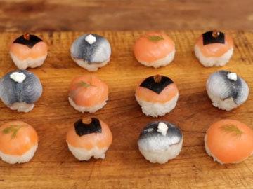 Мини-суши в виде шариков