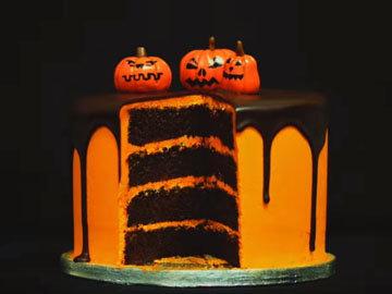 Торт на Хэллоуин - шоколадно-апельсиновый