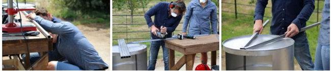 III. Обрезать ножки и решетки для гриля