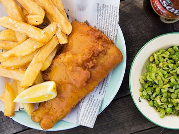 повседневный вариант fish & chips