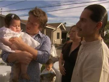 заботливый отец готовился к крещению 10-месячной дочечки Майи