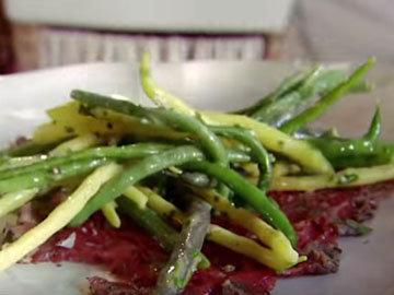 салат из свежей стручковой фасоли