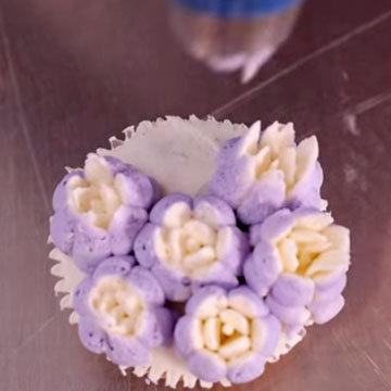 цветы из крема 1