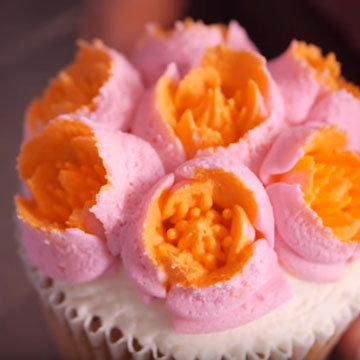 цветы из крема 2