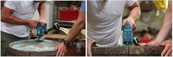 2d. Как приготовить бочку для костра