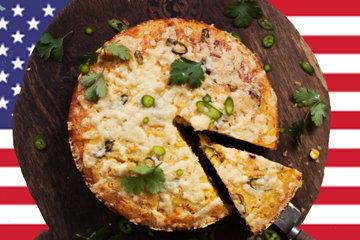 Кукурузный хлеб с сыром и чили