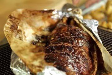Нежная и сочная баранина, обжаренная в розмариновом и чесночном маринаде