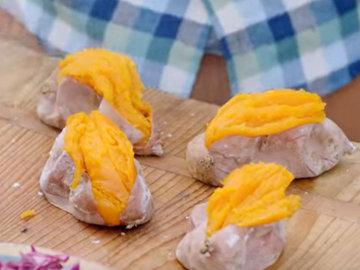 Подавать с печеным сладким картофелем