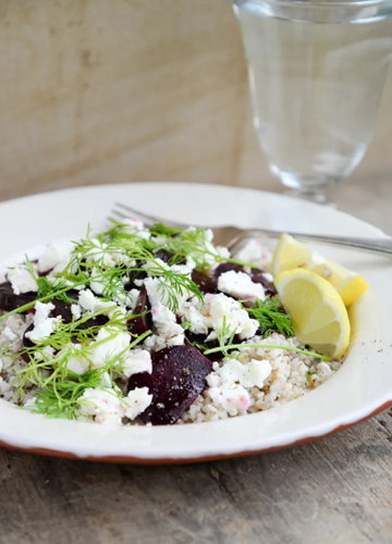 Рецепт салата из гречки, свеклы и сыра фета