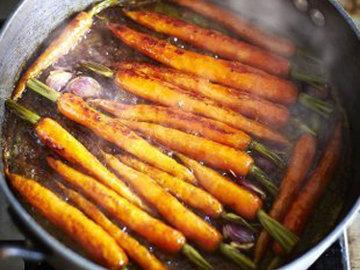 Гарнир. Карамельная морковь