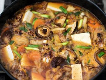 куриный суп по-корейски
