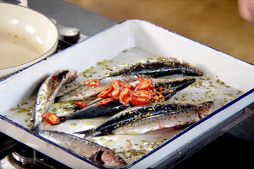Мастер класс Джейми Оливера Рыба сардина 3