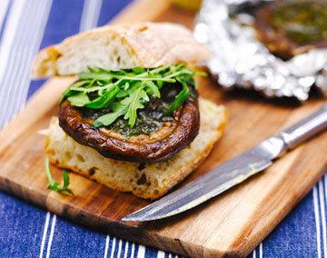 Гамбургеры с грибами