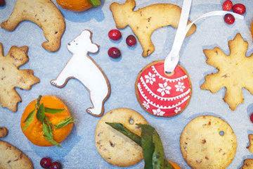 Новогоднее печенье с клюквой