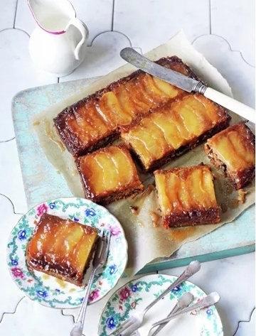 Веганский яблочный торт пирог вверх дном