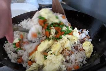 В рис вернуть яйца и овощи