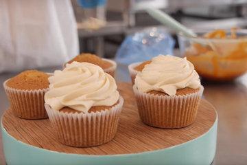 Маффины и рецепт карамельного сливочного крема
