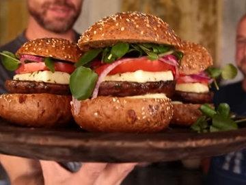 Как приготовить гамбургеры с грибами