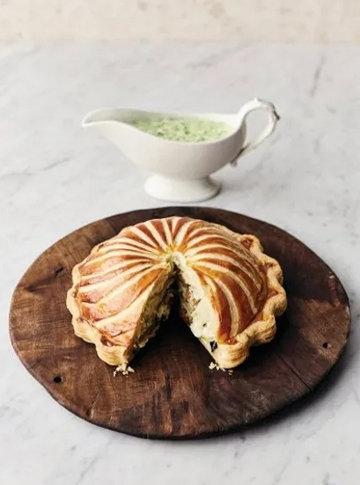 Пирог с грибами Pithivier
