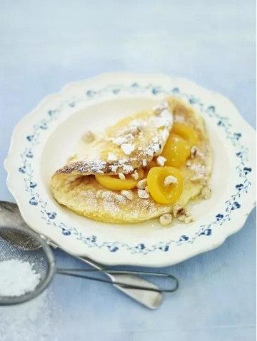 Суфле омлет с ванильным абрикосом