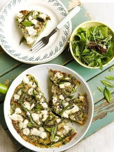 Фриттата рецепт из летних овощей и козьего сыра