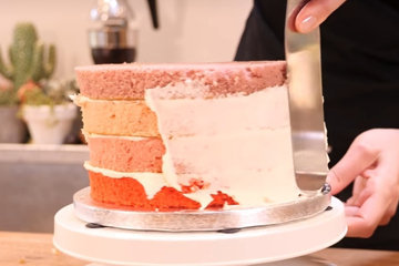 OMBRÉ торт с сердцем 5