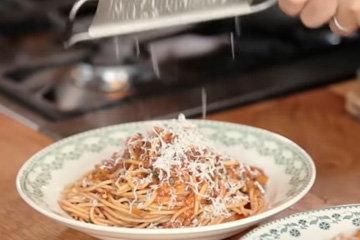 Вегетарианские спагетти болоньезе 1