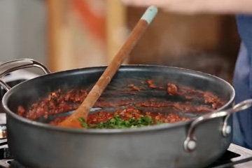 Вегетарианские спагетти болоньезе 4