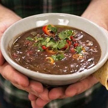 Полезный Суп из черной фасоли