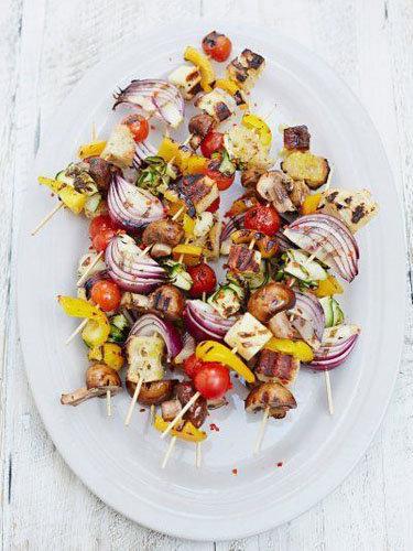 Греческие овощные шашлыки