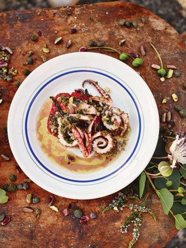 Салат из морепродуктов рецепт с кальмарами