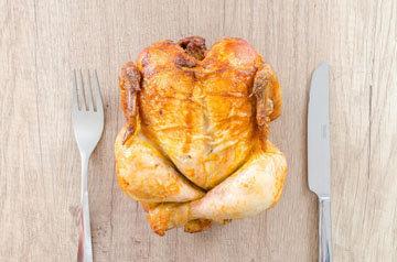 Жареная курица калорийность