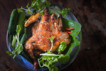 Жареная курица - любимое блюдо очень многих