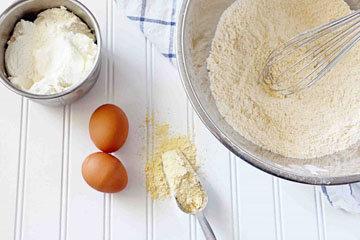 приготовить с детьми Кукурузный хлеб 1