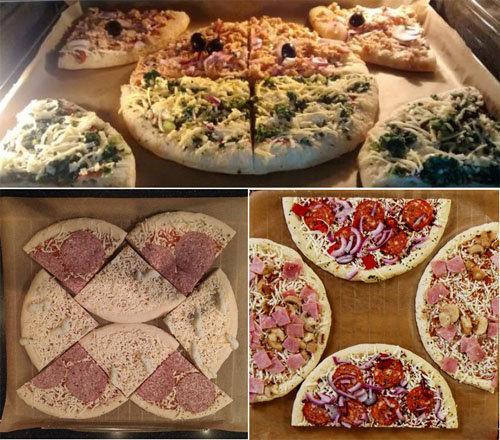 разогреть пиццы