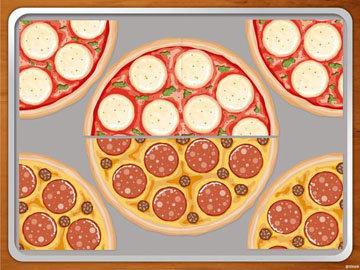 разогреть 2 пиццы