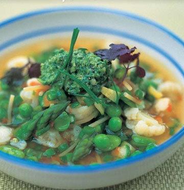 Весенний постный суп с капустой 1