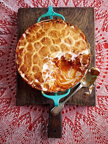 Сладкий запеченный картофель с маршмеллоу