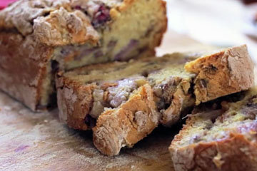 Содовый (бездрожжевой) хлеб с ревенем и имбирем