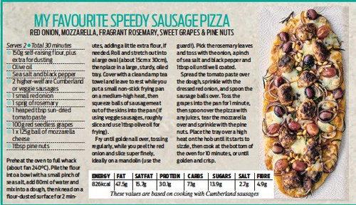 Сосиски, помидоры, сыр и виноград - вот что в пицце